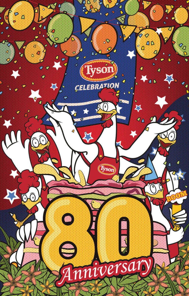 Tyson Chicken 80 Year Anniversary