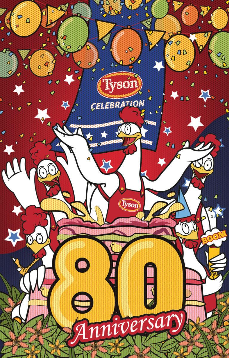 Tyson Chicken 80 Year Anniversary